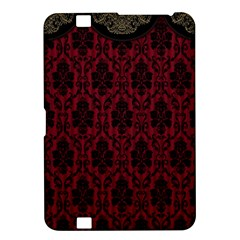 Elegant Black And Red Damask Antique Vintage Victorian Lace Style Kindle Fire Hd 8 9  by yoursparklingshop