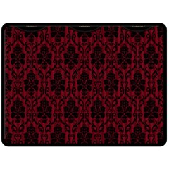 Elegant Black And Red Damask Antique Vintage Victorian Lace Style Double Sided Fleece Blanket (large)  by yoursparklingshop