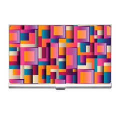 Abstract Background Geometry Blocks Business Card Holders by Simbadda