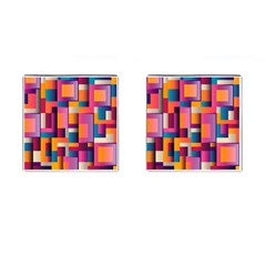 Abstract Background Geometry Blocks Cufflinks (square) by Simbadda