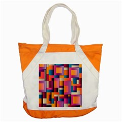 Abstract Background Geometry Blocks Accent Tote Bag by Simbadda