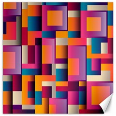 Abstract Background Geometry Blocks Canvas 16  X 16   by Simbadda