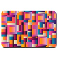 Abstract Background Geometry Blocks Large Doormat  by Simbadda