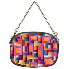 Abstract Background Geometry Blocks Chain Purses (one Side)  by Simbadda