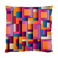 Abstract Background Geometry Blocks Standard Cushion Case (one Side) by Simbadda