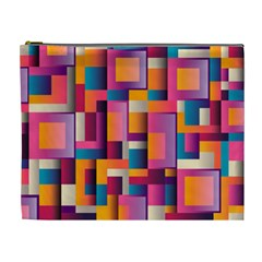 Abstract Background Geometry Blocks Cosmetic Bag (xl) by Simbadda