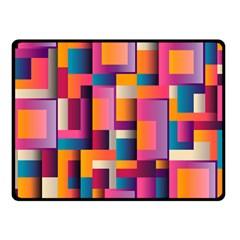 Abstract Background Geometry Blocks Fleece Blanket (small) by Simbadda