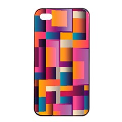 Abstract Background Geometry Blocks Apple Iphone 4/4s Seamless Case (black) by Simbadda