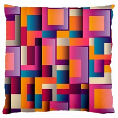 Abstract Background Geometry Blocks Large Cushion Case (one Side) by Simbadda