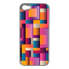 Abstract Background Geometry Blocks Apple Iphone 5 Case (silver) by Simbadda