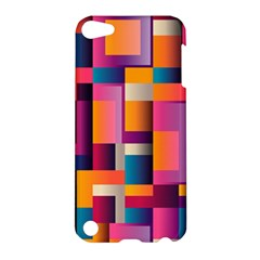 Abstract Background Geometry Blocks Apple Ipod Touch 5 Hardshell Case by Simbadda
