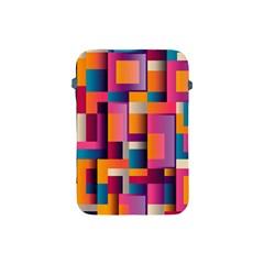 Abstract Background Geometry Blocks Apple Ipad Mini Protective Soft Cases by Simbadda