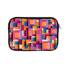 Abstract Background Geometry Blocks Apple Ipad Mini Zipper Cases by Simbadda