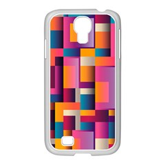Abstract Background Geometry Blocks Samsung Galaxy S4 I9500/ I9505 Case (white) by Simbadda