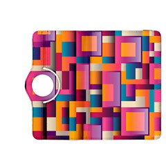 Abstract Background Geometry Blocks Kindle Fire Hdx 8 9  Flip 360 Case by Simbadda