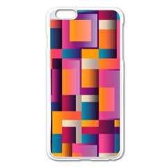 Abstract Background Geometry Blocks Apple Iphone 6 Plus/6s Plus Enamel White Case by Simbadda