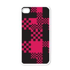 Cube Square Block Shape Creative Apple Iphone 4 Case (white) by Simbadda