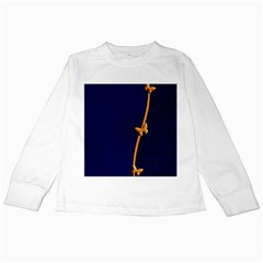 Greeting Card Invitation Blue Kids Long Sleeve T Shirts by Simbadda