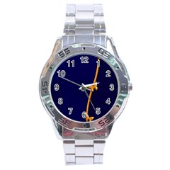 Greeting Card Invitation Blue Stainless Steel Analogue Watch by Simbadda