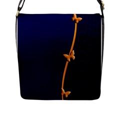 Greeting Card Invitation Blue Flap Messenger Bag (l)  by Simbadda