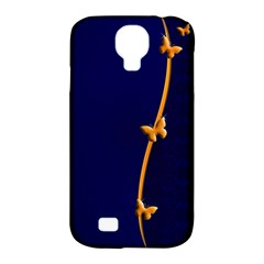 Greeting Card Invitation Blue Samsung Galaxy S4 Classic Hardshell Case (pc+silicone) by Simbadda