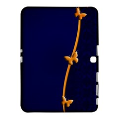 Greeting Card Invitation Blue Samsung Galaxy Tab 4 (10 1 ) Hardshell Case  by Simbadda