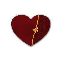 Greeting Card Invitation Red Heart Coaster (4 Pack)  by Simbadda