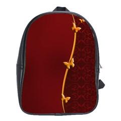 Greeting Card Invitation Red School Bags(large)  by Simbadda