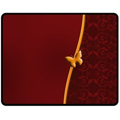 Greeting Card Invitation Red Fleece Blanket (medium)  by Simbadda