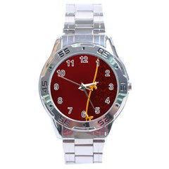 Greeting Card Invitation Red Stainless Steel Analogue Watch by Simbadda