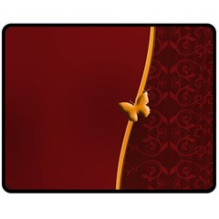 Greeting Card Invitation Red Double Sided Fleece Blanket (medium)  by Simbadda
