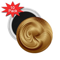 Gold Background Texture Pattern 2 25  Magnets (10 Pack)  by Simbadda