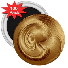 Gold Background Texture Pattern 3  Magnets (100 Pack) by Simbadda