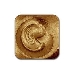 Gold Background Texture Pattern Rubber Square Coaster (4 Pack)  by Simbadda