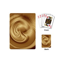 Gold Background Texture Pattern Playing Cards (mini)  by Simbadda