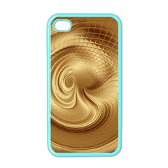 Gold Background Texture Pattern Apple Iphone 4 Case (color) by Simbadda