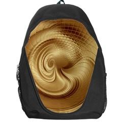 Gold Background Texture Pattern Backpack Bag by Simbadda
