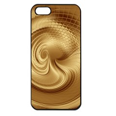 Gold Background Texture Pattern Apple Iphone 5 Seamless Case (black) by Simbadda