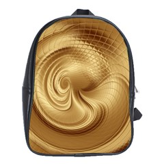 Gold Background Texture Pattern School Bags (xl)  by Simbadda
