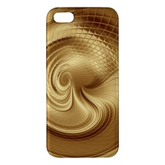 Gold Background Texture Pattern Apple Iphone 5 Premium Hardshell Case by Simbadda