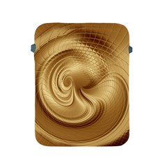 Gold Background Texture Pattern Apple Ipad 2/3/4 Protective Soft Cases by Simbadda