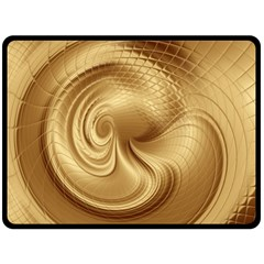 Gold Background Texture Pattern Double Sided Fleece Blanket (large)  by Simbadda