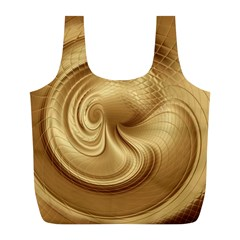 Gold Background Texture Pattern Full Print Recycle Bags (l)  by Simbadda