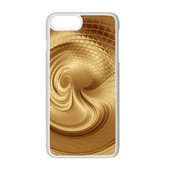Gold Background Texture Pattern Apple Iphone 7 Plus White Seamless Case by Simbadda