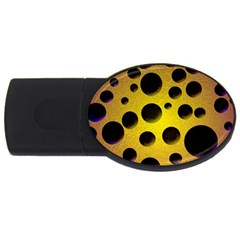 Background Design Random Balls Usb Flash Drive Oval (2 Gb) by Simbadda