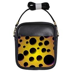 Background Design Random Balls Girls Sling Bags by Simbadda