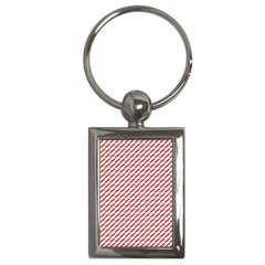 Pattern Red White Background Key Chains (rectangle)  by Simbadda