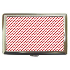 Pattern Red White Background Cigarette Money Cases by Simbadda