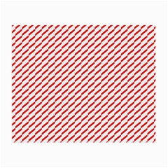 Pattern Red White Background Small Glasses Cloth (2 Side) by Simbadda