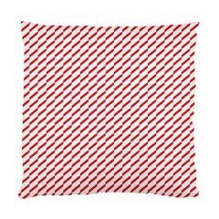 Pattern Red White Background Standard Cushion Case (one Side) by Simbadda